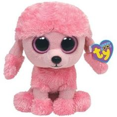"10 "" Ty Beanie Boo's Baby Pink Poodle Puppy Dog ""Princess"" Stuffed Animal Toy 