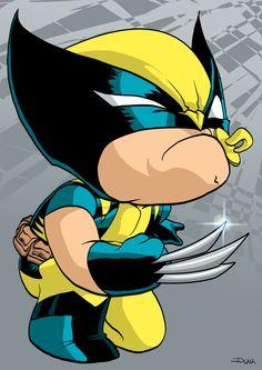 Lil Wolverine by dwaynebiddixart.deviantart.com on @deviantART