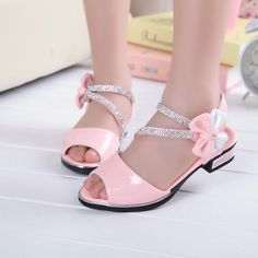 Cheap girls fashion sandals, Buy Quality girls sandals directly from China sandal girls shoes Suppliers: Children Shoes Kids Fashion Girls Princess High-heeled Korean Bow PU Leather New Summer Size Girls Sandals School Shoes Toddler Girl Shoes, Kid Shoes, Cute Shoes, Girls Shoes, Baby Shoes, Little Girl Heels, Black Little Girls, Rhinestone Sandals, Princess Shoes