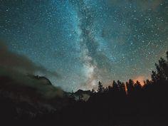 Milkyway Stars Landscape Hidden Gems  Long Exposure Mountains Clouds Night Nightphotography Switzerland Night Sky Starry Sky Nature Overnight Success