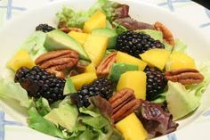 Blackberry, Avocado, and Mango Salad - You'll love the combination of flavors and textures in this salad!