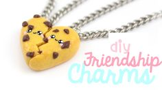 DIY Cute Cookie Friendship Charms Polymer Clay Tutorial