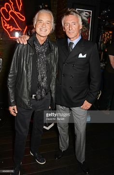 Jimmy Page (L) and Paul Weller attend as John Varvatos launch their first European store in London, on September 3, 2014 in London, England.