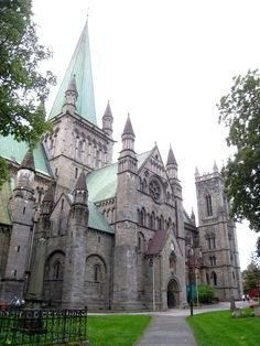 Nidaros Cathedral, Trondheim, Norway. Perhaps the oldest Cathedral Church in Scandanavia