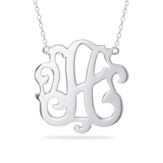 Beverly Hills Sterling Calligraphy Initial Pendant Necklace