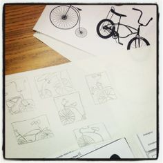 Mrs. Knight's Smartest Artists: composition with bicycles