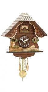 Miniatura de relógio cuco, eletrônico alemão.
