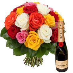 Complément d'information    A consommer avec modération, l'abus d'alcool est dangereux pour la santé    Une idée cadeau pétillante, ce bouquet de 21 grosses roses du Kenya, simple et élégant ,aux couleurs variées, accompagné d'une demi-bouteille de champagne brut Impérial de Moët & Chandon sera à l'origine d'un moment subtil à partager, à offrir et à consommer avec modération…