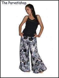 Pantalon samouraï gypsie boheme gitane hippie : Pantalons, jeans, shorts par the-parvatishop