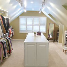 I'd love to do this in my roof space!  Attic Closet Design