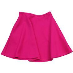 Pre-owned Ted Baker Hot Pink Neoprene Skirt ($69) ❤ liked on Polyvore featuring skirts, pink skirt, pleated skirt, patterned skirts, zipper skirt and open back skirt