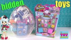 Shopkins Giant Surprise Egg #17 Opening Chef Club MLP Disney Trolls | PS...