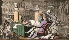 The dance of death: time and death. Coloured aquatint by T. Rowlandson, 1816. Credit: Wellcome Library, London.