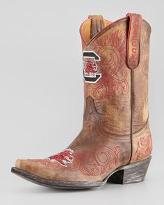 University of South Carolina Short Gameday Boots, Brass by Gameday Boot Company at Neiman Marcus--GO COCKS!!!.