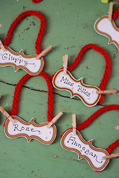 Elf Party  elf name tags