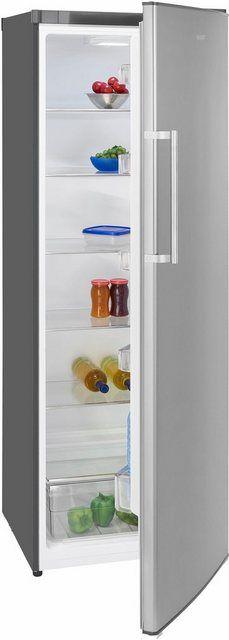 Exquisit KS350-4 A+ Kühlschrank Freistehend 60cm Edelstahl-Optik Neu