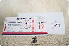 Invitatie de nunta Boarding Pass | Invitatii de nunta - Moderne | ForeverAfter.ro