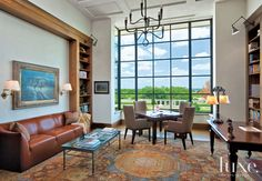 Geometric Contemporary Neutral Living Room   LuxeSource   Luxe Magazine - The Luxury Home Redefined