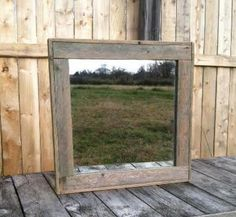 Rustic Decor -  Reclaimed Wood Mirror - Man Cave - Industrial Rustic Mirrors by CountryByTheBumpkins on Etsy https://www.etsy.com/listing/170319028/rustic-decor-reclaimed-wood-mirror-man