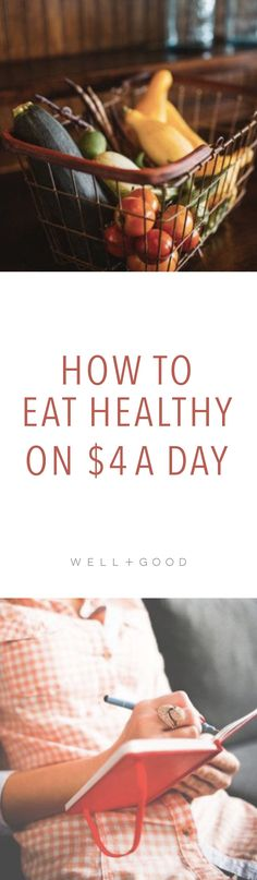 How to eat healthy on a food stamp budget of $4 a day.