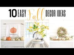 Simple and easy fall decor ideas. Dollar Tree Decor, Dollar Tree Store, Dollar Stores, Home Design, Silhouette Cameo, Fall Arts And Crafts, Decorating Your Home, Fall Decorating, White Pillow Covers