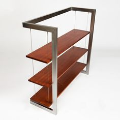 Suspended Bookshelf // Mahogany