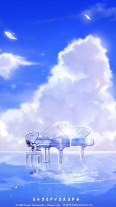Snoopy playing the piano Snoopy Love, Snoopy And Woodstock, Snoopy Cartoon, Snoopy Pictures, Snoopy Images, Snoopy Wallpaper, Snoopy Quotes, Character Wallpaper, Charlie Brown And Snoopy