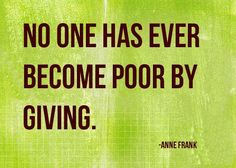 """""""No one has ever become poor by giving."""" -Anne Frank #GivingTuesday #spinalcordinjury #unselfie"""
