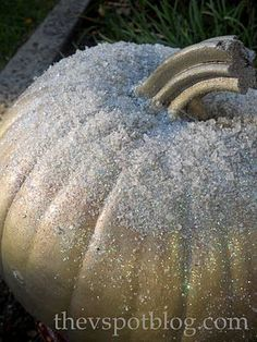 The V Spot: Frosted pumpkins (How to make a pumpkin work in winter decor.)