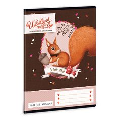 Woodland Magic A/5 vonalas füzet 21-32 Fall 14, Red Squirrel, Hello Autumn, Woodland, Teddy Bear, Magic, Cover, Animals, Collection