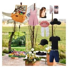 """Teddy and Pryce picnic in the park"" by teddymonyeki on Polyvore featuring Picnic at Ascot, Topshop, Aéropostale, Boohoo, Eugenia Kim, Lime Crime, Dsquared2 and Lakai"