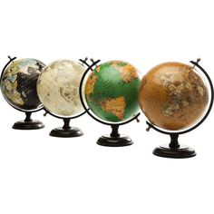 Study geography in style with the varied and vibrant colours of these delightful deco globes, artfully coloured in old-world style to give that inimitable explorer atmosphere.