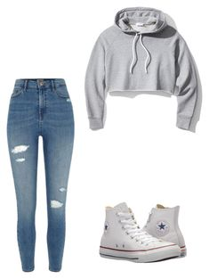"""Cute & Easy"" by jay-love12 ❤ liked on Polyvore featuring Frame, River Island and Converse"