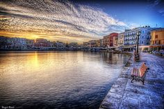 Chania - Crete Sunrise by Roger Raad