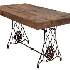Reclaimed Wood Desk by Charles Lushear