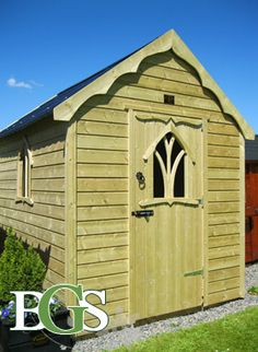 Cottage style garden shed.Boyne garden sheds. High quality garden sheds in Ireland Wood Shed Plans, Easy Woodworking Projects, Cottage Style, Home Art, Outdoor Structures, Garden Sheds, Cool Stuff, Building, Ireland
