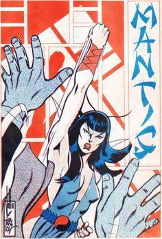 "Foom #5 back cover ""Mantis"" by John Byrne & Duffy Vohland. 1974."