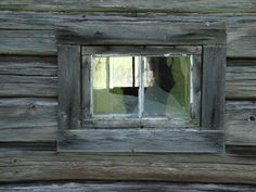 Window of an old house in Nås, Dalarna, Sweden