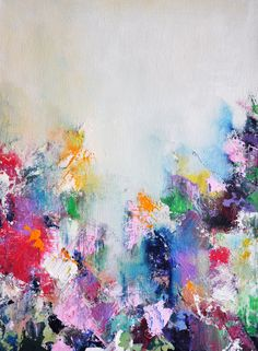 "Colorful Abstract - original abstract modern painting , 12""x16"". $180.00, via Etsy."