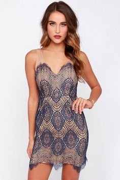 27eece9eaf09 LULUS Exclusive Blank Space Navy Blue Lace Dress at Lulus.com! gt  gt
