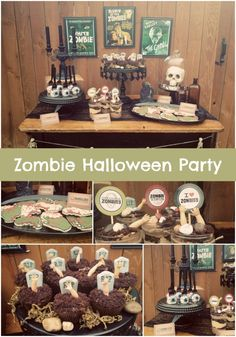 Vintage Zombie Themed Halloween Party! - Spaceships and Laser Beams