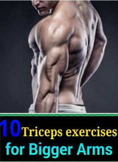 Top Best Exercises for triceps you might have been ignoring. Muscle Definition, Bigger Arms, Bulk Up, Triceps Workout, Exercises, Workouts, Might Have, Upper Body, Bodybuilding