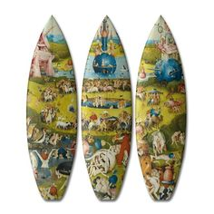 CLASSIC ART SURF BOARDS THE GARDEN OF EARTHLY DELIGHT by Triptych
