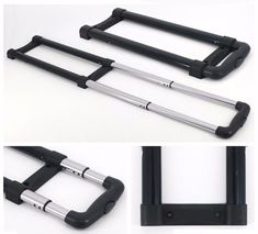 two bars Suitcase Handle Replacement Luggage Aluminium Alloy Rod Acessory for G003