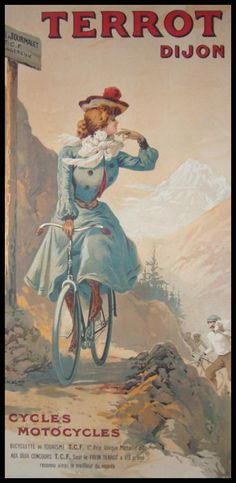 Goddess french poster cycling vintage europe