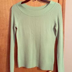 Take Out brand size M mint green sweater Cute long sleeve M- Mint green long sleeve sweater. Worn once looks adorable on. Used but in excellent condition. Take Out Sweaters