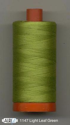 #Aurifil 1147 Light Leaf Green