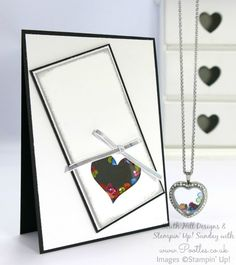 South Hill Designs & Stampin' Up! Sunday Heart Locket Duo - measurements for shaker card
