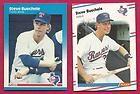 1987 1988 Fleer Steve Buechele Texas Rangers (Set Break) Lot of 2