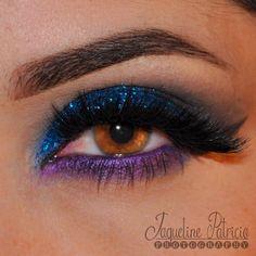 Blue glitter eyeshadow - @ makeuplovexo